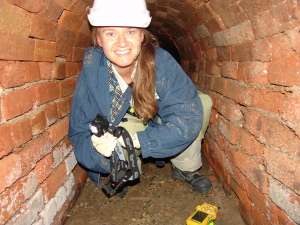 Chantelle in the tunnel